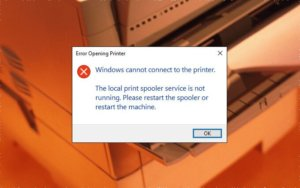 FIX: Print Spooler Keeps Stopping On Windows 10